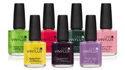 Покрытие ногтей лаком VINYLUX в один цвет
